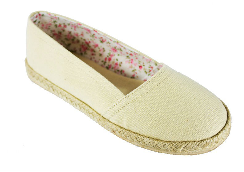 #2: Yom Kippur Shoes for Girls: Beige Linen Espadrille Flats by Soda Shoes